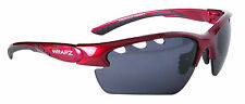 Golf Sunglasses Vented Wrapz Trailbreaker BURGUNDY RED with Smoke GREY Lens