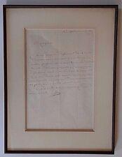 JOSEPH FOUCHE NAPOLEON BONAPARTE MINISTER OF POLICE SIGNED ALS DATED 11-8,1805