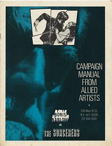 Original PB • THE SORCERERS• 1964 • Boris Karloff • Uncut • Unfolded • Complete