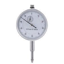 0.01mm Dial Indicator Metric 10mm Measure Graduation Travel Lug Back White Face