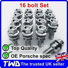 Locking Wheel Bolts 14x1.5 Nuts Tapered for Porsche Boxster 987 Sypder 10-13
