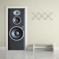 3D Large speaker Door Mural Stickers Self Adhesive Peel and Stick Wallpaper