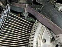 "VINTAGE 1937 MODEL NEW ""G"" UNDERWOOD CHAMPION PORTABLE TYPEWRITER"
