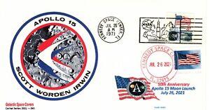 Apollo 15, 50th Anniversary (Moon Launch), Dual Postmarks - July 26, 1971 & 2021