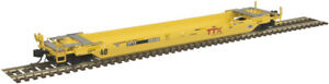 Atlas N Scale 40' Rebuilt Well Car TTX (Yellow/Red/Forward Thinking) #59049