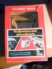 NOS Carol Low Mount Chrome Mirror Campers Vans Trucks Silver Back Glass S35C