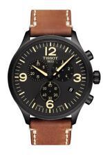 T1166173605700 Tissot Men's Chrono XL Black Dial Brown Leather Band Watch new