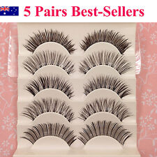 5 Pair Combination Natural Long Thick Soft Fake False Eyelashes Handmade Wispies
