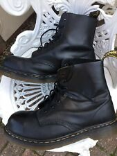 Doc Martens Unisex  Steel Toe Caps 7hole Uk7 Black Smooth Leather Made In Englan