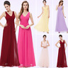 Women V-neck Long Evening Dresses Sleeveless Prom Dress Cocktail Homecoming Gown