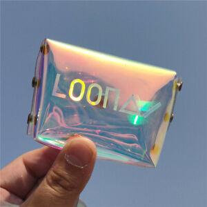 Kpop LOONA Mini Wallet Laser Pencil Pen Bag Hyun Jin Makeup Bag School Supplies