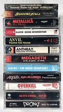 12x THRASH METAL Cassette Tape Lot: RARE Metallica Anthrax Megadeth Slayer Prong