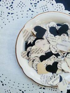Vintage Paper, Vintage Music, Black card-stock - 200 Party Confetti Wedding Deco