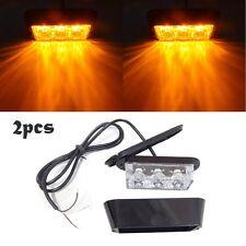 2pc 3W High Power 3 LED Car Truck Flash Strobe Emergency Warning Light -Amber