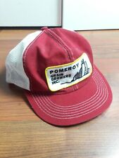 Vintage pomeroy grain Snapback Trucker Hat Cap Patch K PRODUCTS Made In USA