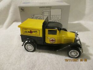 ERTL Pennzoil Model A Pickup Coin Bank with box