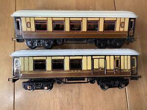 Bing O Gauge Pair of GWR Short Bogie Coaches 1 x Pullman Car 1 x Brake Coach
