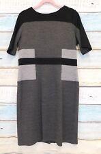 Roman originals colour block dress grey black UK 16 office formal smart business