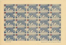 PALESTINE 1940's PALESTINE & TRANS JORDAN RED CROSS APPEAL STAMPS O/PRINT SHEET