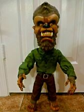"WOLFMAN POZER - UNIVERSAL MONSTERS - 24"" TALL SIDESHOW TOYS 2000 GREAT CONDITION"