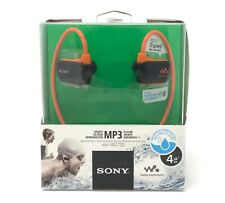 Sony NWZ-W273S 4GB Impermeabile Walkman Sport Nuoto Lettore MP3 (Arancione) NUOVO