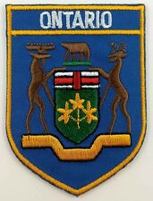Ontario COA Shield Crest Patch Embroidered Iron On Sew On Canada