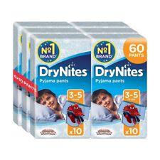 Huggies DryNites Boys Pants 3-5 Years Pyjama Pants Pack of 6 Total 60 Pants NEW
