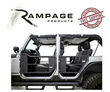 Rampage Trail Doors w/ Removable Net 07-17 Jeep Wrangler JKU 4 Door 7684 Black
