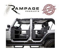 Rampage Trail Doors w/ Removable Net 07-17 Jeep Wrangler JKU 4 Door 7684 Black