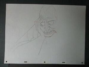 HADES ORIGINAL PRODUCTION DRAWING from HERCULES - 1995 DISNEY ANIMATION MOVIE