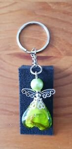 Green large guardian angel keyring - mothers day, birthday, thank you