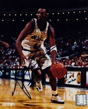 ANFERNEE PENNY HARDAWAY ORLANDO MAGIC HAND SIGNED AUTOGRAPHED VINTAGE PHOTO COA