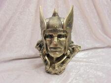 Thor Bust Gold Finish 22cm Norse Mythology Viking God Ornament