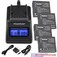 Kastar Battery LCD Fast Charger for Original Panasonic DMW-BCE10E DMW-BCE10PP