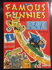 1943 FAMOUS FUNNIES 103 VG/WP! Buck Rogers SCORCHY SMITH Invisible Scarlet Oneil