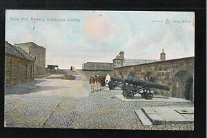 L@@K  Fore Wall Battery Edinburgh Castle ~ 1905 Postcard ~ Cannon ~ Cannons