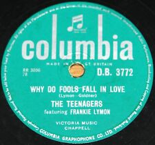 FRANKIE LYMON & THE TEENAGERS WHY DO FOOLS FALL IN LOVE 78 RPM E+ EX PLUS GRADE