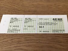 ticket concert Collector AC/DC Decembre 1979