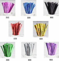 800pcs Metallic Twist Ties Wire For Cake Pops Gift Candy Sealing Cello Bags Pack
