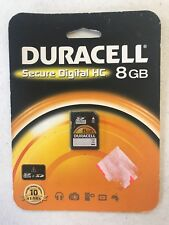Duracell 8GB secure digital HC- BRAND NEW   SEALED