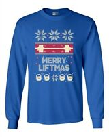 Long Sleeve Adult T-Shirt Merry Liftmas Workout Christmas Holiday Funny DT