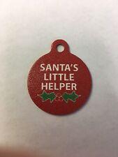"Santa's Helper Christmas Winter Theme Pet Charm Dog Cat Tag for Your Pet 1.25"""