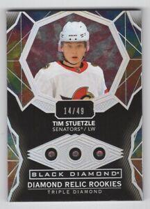 20-21 Upper Deck Black Diamond Triple Diamond Rookie Tim Stuetzle 14/49