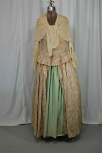 old period antiq 18th c dress womens 1700 colonial reenactment bust 36 replica