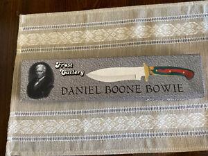 Frost Cutlery Daniel Boone Bowie Knife NEW in BOX  #16-849 CW