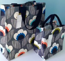 "Orla Kiely ""Meadow Flower"" Large Bag & Small Tote Bag Set Tesco Shopping Storage"
