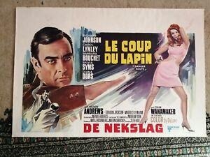 Le Coup Du Lapin Danger Route Original Belgian Movie Poster Affiche Diana Dors
