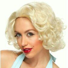 Petite Blond Short Curl Bombshell Wig Marilyn Bomb Shell 50s Beauty Halloween