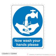 20 x ora lavare le mani si prega / lavandino / igiene alimentare-Firmare, Adesivo