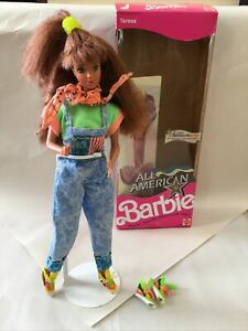 Barbie All American Teresa Doll 9426 1990 With Outfit & Reebok's! Rare!